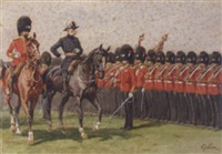 lord roberts inspecting the troops by william barnes wollen