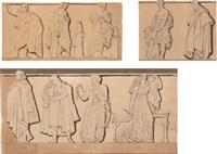 jean françois ducis et ensemble d'auteurs grecs dont probablement euripide et sophocle (3 works) by pierre jean david d' angers