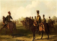 7th (queen's own) hussars by henry martens