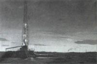 texas oilfield at dawn by arthur weaver