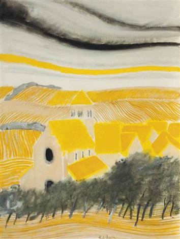 village aux toits jaunes by andré brasilier