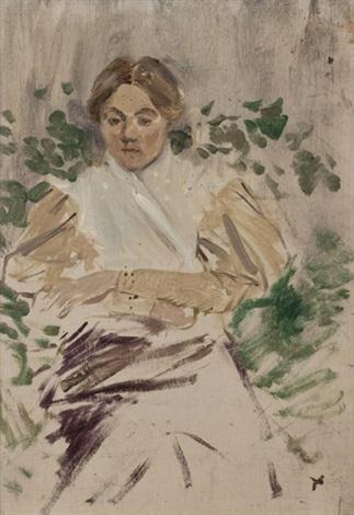 jeune femme dans un jardin by jean louis forain