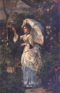 élégante à l'ombrelle by josé y morell arburu