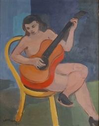 akt z gitarą by janusz maria brzeski