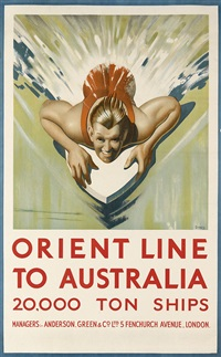 orient line to australia by william dobell