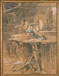 l'artiste esclave by aime nicolas morot