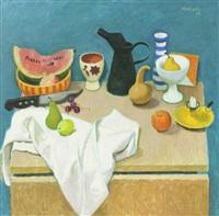 still life with black jug by alberto morrocco