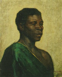 a portrait of an african man by bas van der veer