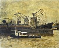 barcos en el puerto by osvaldo leite