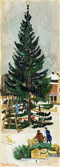 julgranen kläs, ljungby torg by sven ljungberg