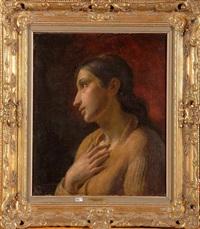 jeune femme pensive by jean de la hoese