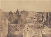 vue de la ville de sèvres prise de la manufacture by henri-victor regnault
