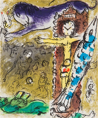 Christ In The Clock Z Cyklu Chagall Graveurs By Marc Chagall On Artnet