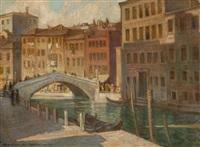 canale di mestre in venedig by rudolf adamek