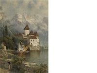 castle of chillon, switzerland by edwin deakin