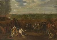 louis xiv au siège de douai by adam frans van der meulen
