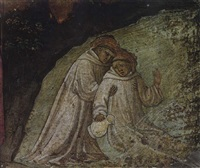 saint maurus rescuing saint placidius from drowning by lippo d'andrea (ambrogio di baldese)