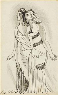 two women by alexandra exter