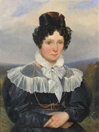 portrait de jeune femme en buste by robert léopold leprince
