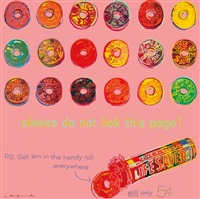 lifesavers, from ads by andy warhol