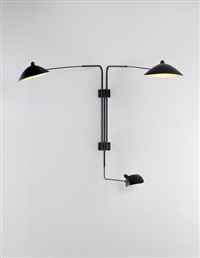 three-armed adjustable wall light by serge mouille