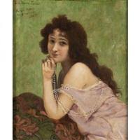 portrait de la belle otero by louis edouard paul fournier