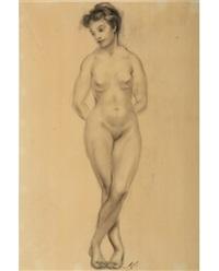 standing female nude vi by alexandros alexandrakis