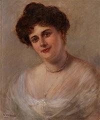retrato de mujer by rafael argeles y escriche