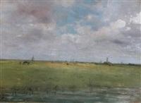 paysage aux moulins by gustave adolf jundt