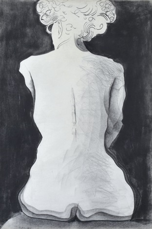 seated nude by charles blackman