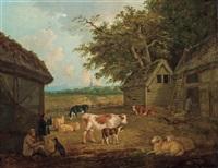 farmyard by george morland