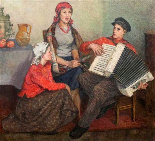 musikszene by nikolai petrovich bogdanov belsky