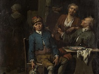 at the tavern, antwerp by jan baptist lambrechts