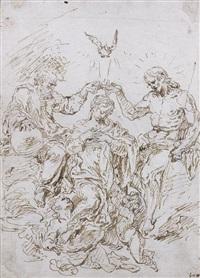 la trinité couronnant la vierge by raymond de lafage