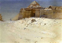 a mastaba behind the pyramid of khufu, giza by howard carter
