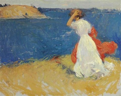 girl on the headland by frank weston benson