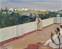 evening on the house top, tangier by john lavery