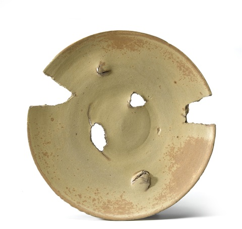untitled plate by peter voulkos