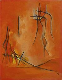 1_gustave singier<br>huile sur papier marouflé sur toile<br>26,5 × 20,5 cm by gustave singier