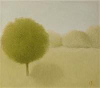 landscape with tree by metten koornstra