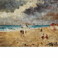 beach scene by alfred stevens