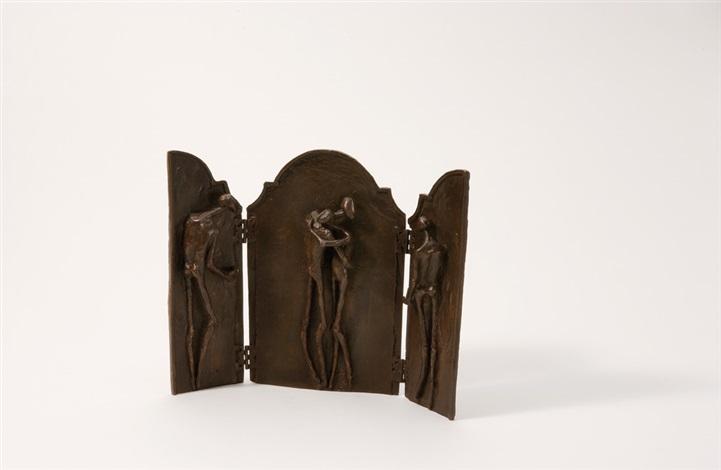 triptych with 4 figures by jaroslàwa petrowa dànkowa
