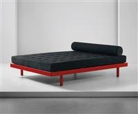 s.c.a.l.' double bed, model no. 452, designed for the société centrale des alliages légers, issoire by jean prouvé