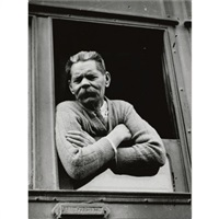 maxim gorki arriving by train by max vladimirovitch alpert