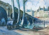 les quais au pont marie by frank-will