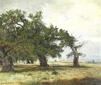 landschaft bei schwanheim by wilhelm julius august nabert