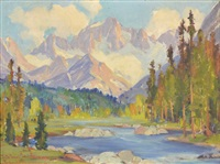 rock creek high sierras w. view of mount dade by frederick almond zimmerman