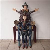 père et enfant avec cymbales by olivier leloup