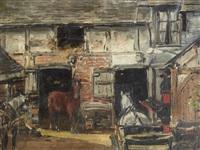 intérieur d'auberge by justin (joseph marie j.) gabriel