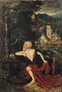 the penitent saint jerome by flemish school-bruges (16)
